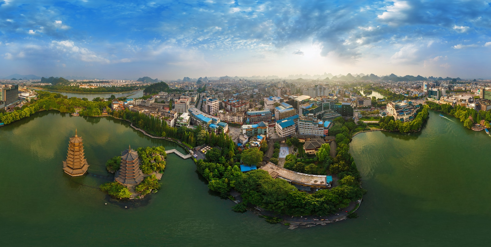 aerial shot of Guilin