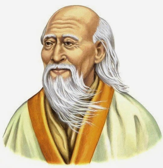 a color drawing of Laozi, founder of Taoism