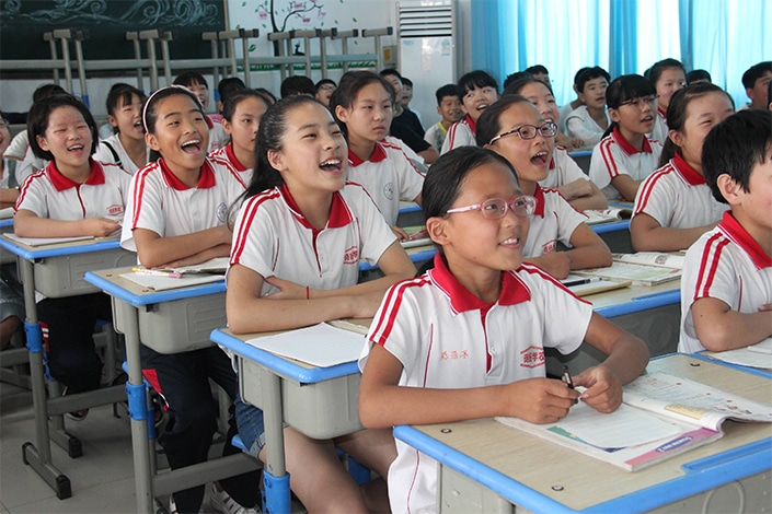 Most public schools in China have around 30-40 students per class section.