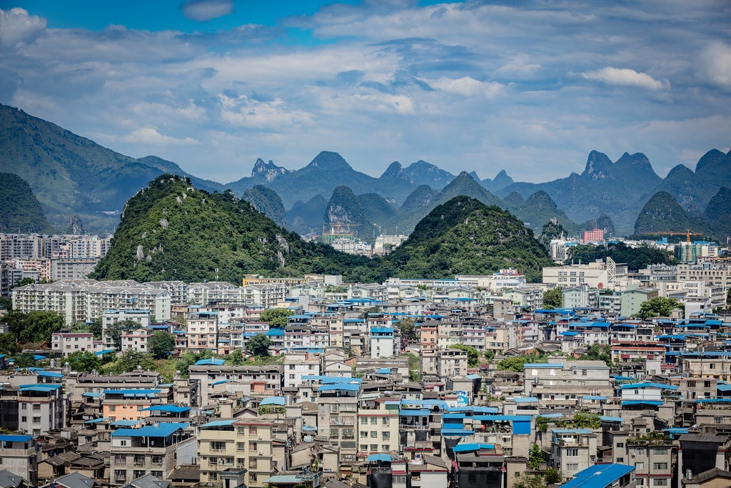 View on Guilin from Fubo Hill