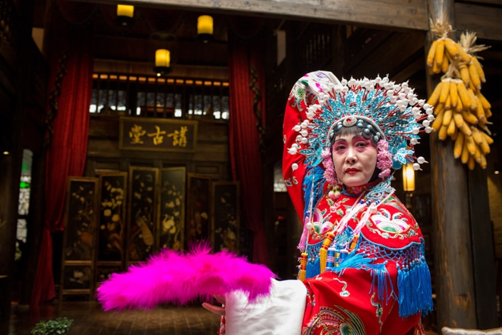 a traditional Chinese opera performer in costume
