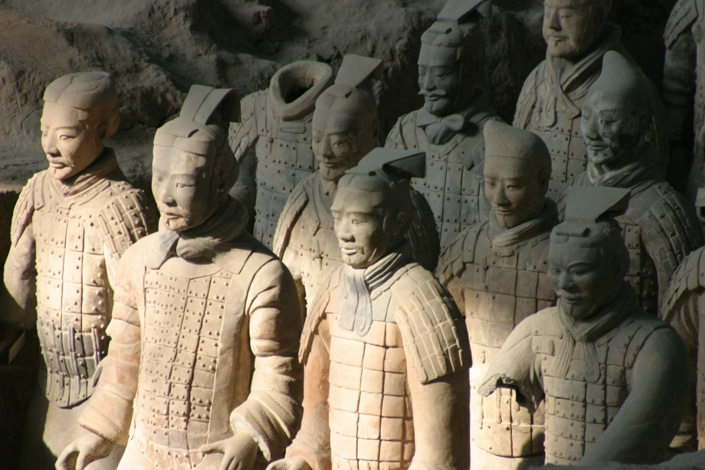 the Terracotta warriors in Xi'an, one of the best places to visit in China
