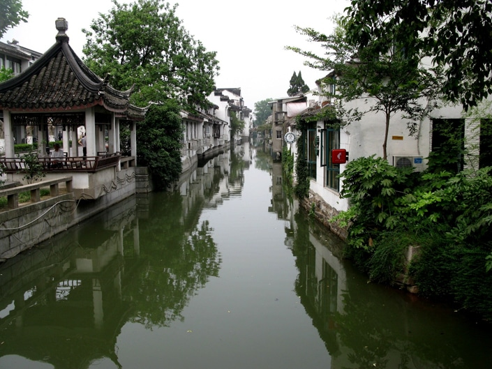 a canal in Suzhou, one of the best places to visit in China