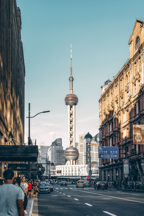 the Oriental Pearl Tower in Shanghai, one of the best places to visit in China