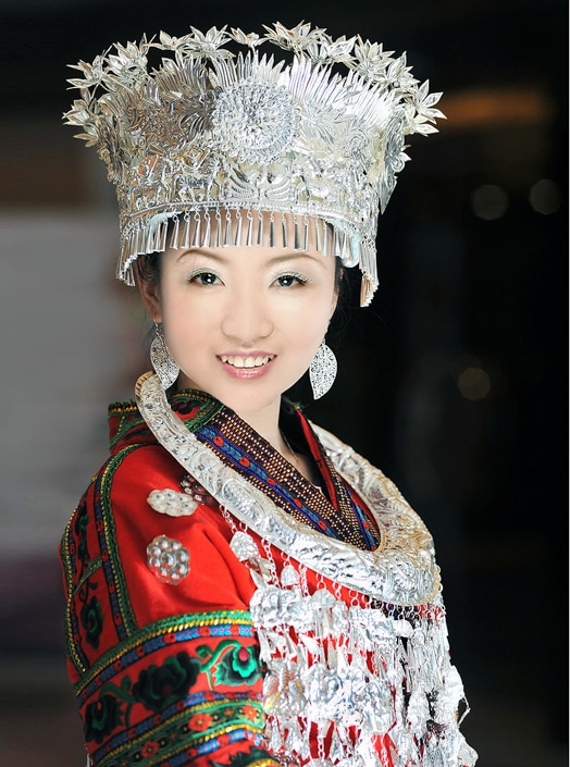 a Chinese woman with white skin