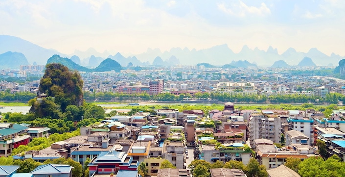 historical color photo of Guilin