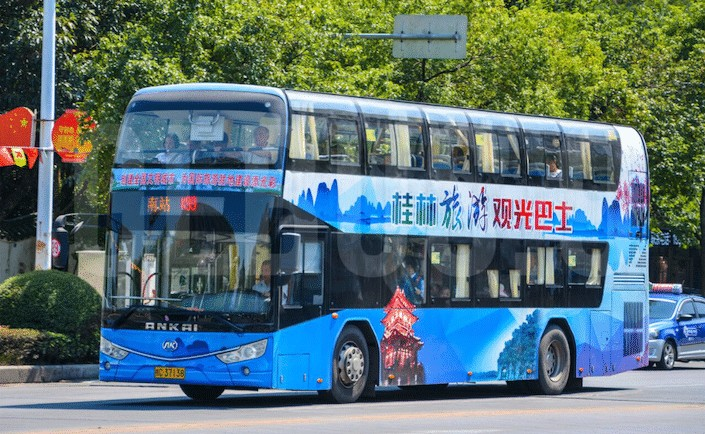 public bus in guilin, china
