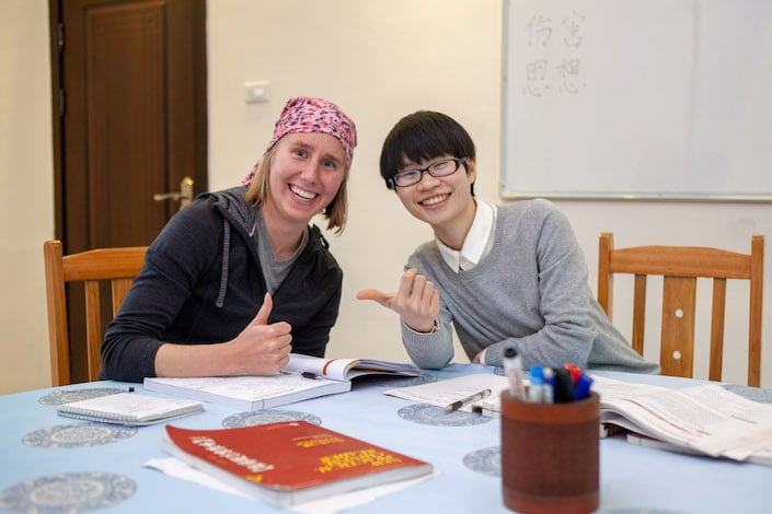 a CLI teacher and student during class