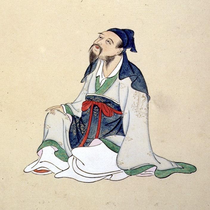 a portrait of the Tang dynasty poet Li Bai