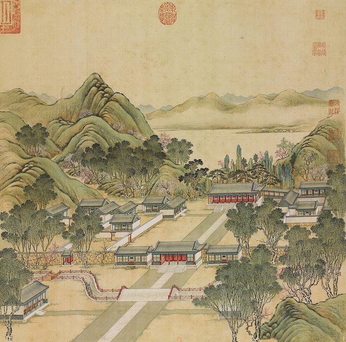 an ancient Chinese painting of the Summer Palace