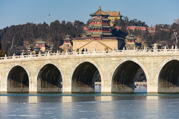 the Seventeen-Arch Bridge in the Summer Palace, Beijing
