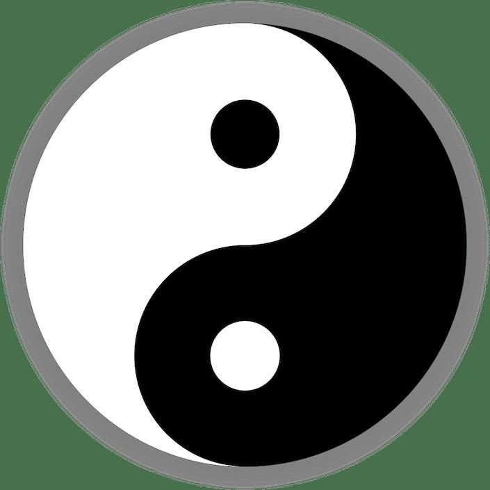 a yin yang symbol