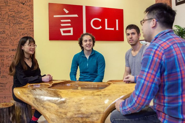 chinese teachers and international students at a chinese language school