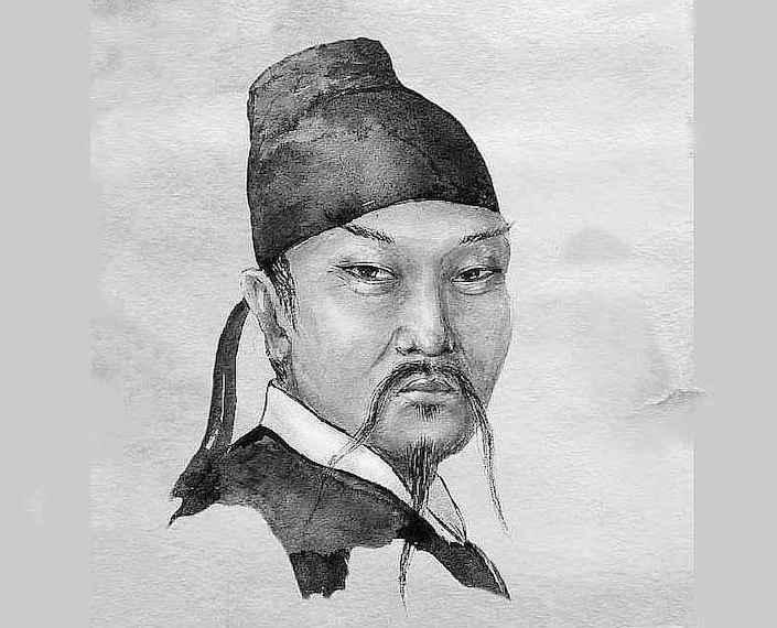 drawing of chinese poet li bai