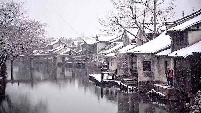 winter in wuzhen water town